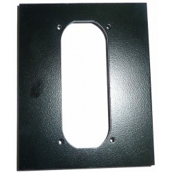 ME0004 - COIN ACCEPTOR METAL PLATE (12,1x15,2 cm - Inch 4,76x5,98) (BLACK)