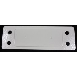 ME3423 - COVER PLATE FOR DBA/TICKET PRINTER HOLE. STRIP (WHITE) (15x4 cm - Inch 5,91X1,57)