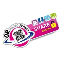 DE0001 – DECAL. Share Secure (QR Photo Planet)