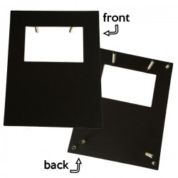 ME0025 - ICT METAL PLATE SUPPORT. (BLACK)